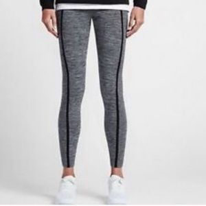 Nike Tech Ribbed Cuff Gray Tight Legging Sz M